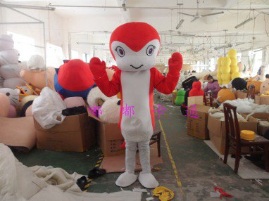 Walking Doll Cartoon Clothing Cartoon Doll Clothing Film and Television Animation Cartoon Costumes Red Snake Mascot Costume
