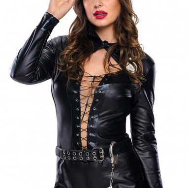 European and American Halloween Role - Playing Women #39 S Police Long - Sleeved Single Body Clothing Stage Service Halloween Costume