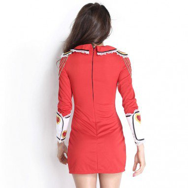 Uniformed Brave Sweet Sweet Sugar Sweetheart Animation Red Reality Dress Halloween Costume