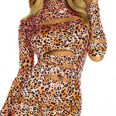 European and American Halloween Fall and Winter Role - Playing Torn Cat Girl Stage Equipment Halloween Costume