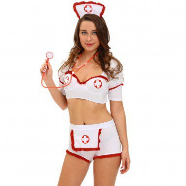 European and American Halloween Role - Playing Flirtatious Sexy Nurse Stage Service Halloween Costume