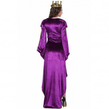 Fashionable Halloween Party Queen Purple Dress Stage Dress Halloween Costume