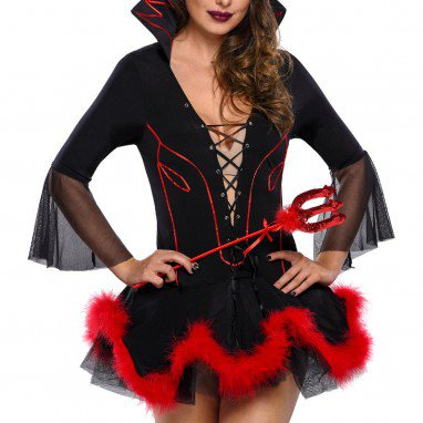 Halloween Halloween Long Sleeve Bandage Europe and The United States Stand Wear Demon Uniform Halloween Costume