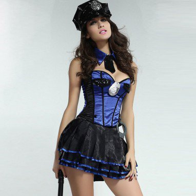 Sexy Uniforms Temptation Policewoman Million Police Fans Clothes Field Ds Games Installed Halloween Costume