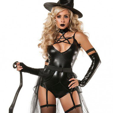 Show Stage Costume Halloween Witch Game Sexy Four - Piece Apparel Halloween Costume