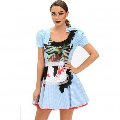 Europe and The United States Halloween Role - Playing Maid Short - Sleeved Round Neck Stage Performance Equipment Installed Halloween Costume
