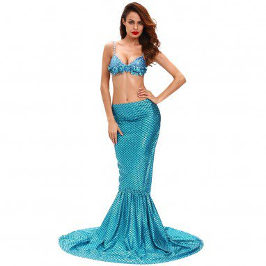 Europe and The United States Halloween Role - Playing Mermaid Miss Sexy High Waist Mermaid Stage Costumes Halloween Costume
