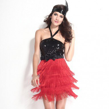 Fall and Winter Halloween Cosplay Sleeveless Shoulders Bow Decoration Show Stage Halloween Costume