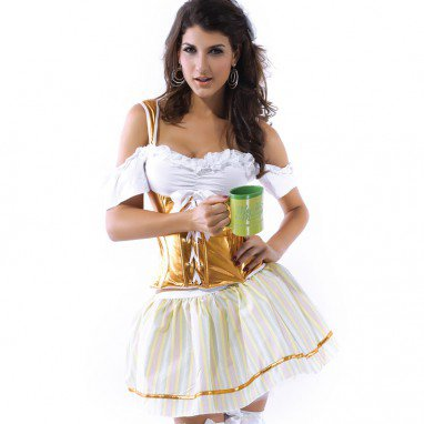 Girdle Body European Beer Girl Maid Stage Dress Up Game Halloween Costume