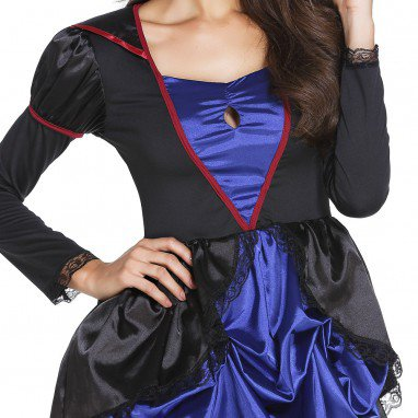 Queen of The Queen of The Queen of The Queen of The Lantern Collar Long - Sleeved Tight - Fitting Short Before The Long Folds Dress Halloween Costume