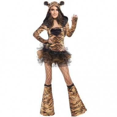 Show Game Uniform Halloween Party Seductive Ferocious Tigers Sexy Mini Clothing Halloween Costume