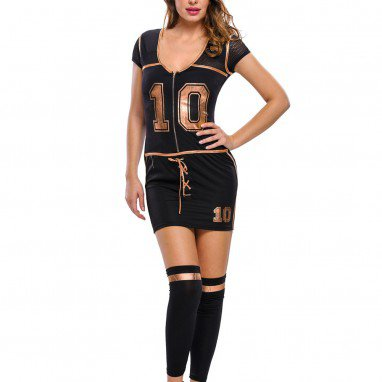 Soccer Costume Short - Sleeve Cosplay Performance Stage Dress Dress Halloween Costume