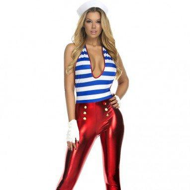 Styles Stripes Sexy Desires Deck Sailor Uniforms Halloween Costume