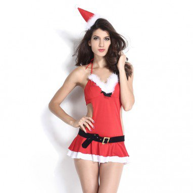 Europe and The United States Halloween Christmas Clothing Sleeveless Mini Skirt Performance Stage Equipment