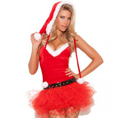 Europe and The United States Halloween Costumes Christmas Equipment Sleeveless Low - Cut Sexy Game Uniforms