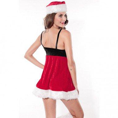 Europe and The United States Winter Sweet Christmas Sleeveless Dress