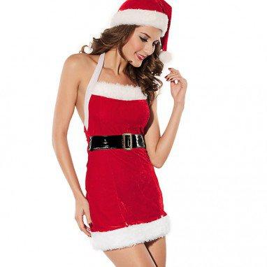 Sleeveless Velvet Winter Sleeveless Jumpsuit Belt Christmas Christmas