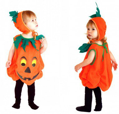Halloween Costume Children Pumpkin High-grade Pumpkin Suit Dress