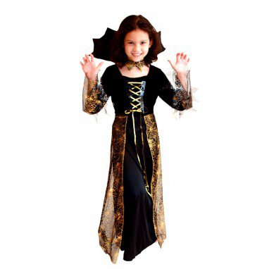 Halloween Children Clothing Children Mask Performance Service Witch Beautiful Spider Princess Dress