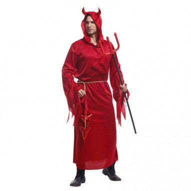 Halloween Costume Adult Makeup Stage Devil Dress Up Dress