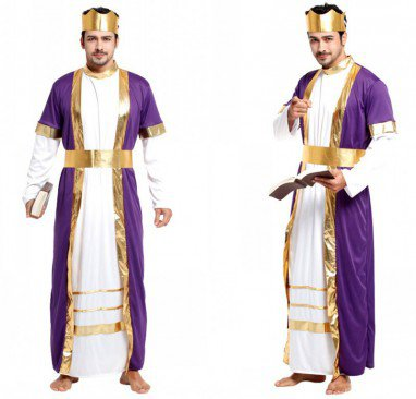 Halloween Costume Adult Mask King Robes Universe
