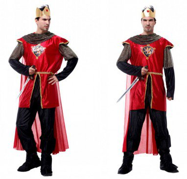 Halloween Costume Men Adult Stage Masks King Dress