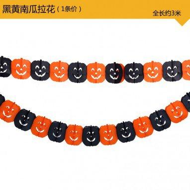 Halloween Decoration Halloween Laughing Venue Arrangement Pumpkin Skeleton Ghost Spider Bats