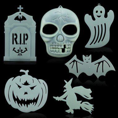 Halloween Decoration Halloween Supplies Ktv Scene Horror Lacquer Skull Skeleton Luminous Pendant Multi Style