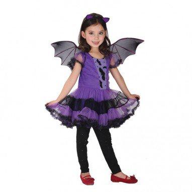 Halloween Costume Stage Performance Princess Skirt Purple Bats Girl Suit