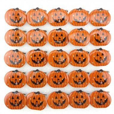Halloween Ghost Festival Supplies Luminous Brooch Flash Brooch Skeleton Ghost Head Pumpkin Brooch