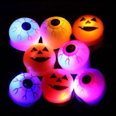 Halloween Soft Ring Ring Eyeball Flash Ring Pumpkin Glowing Ring Finger Finger Light