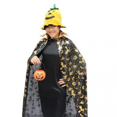 Clothing Halloween Costume Accessories Adult Gold Pumpkin Cloak