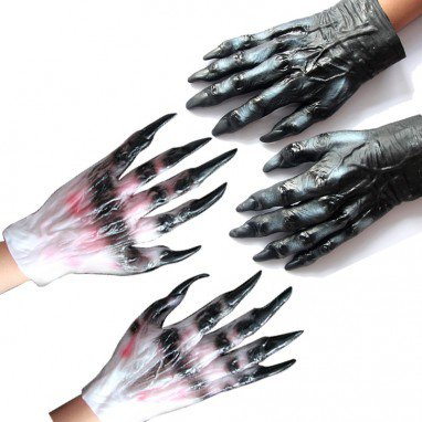 Halloween Cosmetics Gloves Accessories Men Style Terror with Wolves Gloves