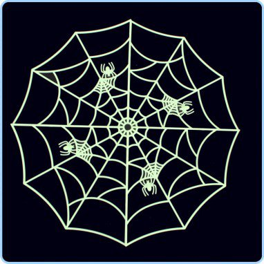 Halloween Supplies Haunted House Ktv Decoration Tamper Toys Luminous Spider Web
