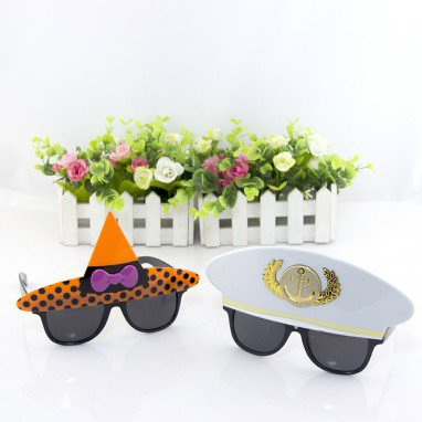 Halloween Makeup Eyes Captain Witch Hat Glasses Men and Women Cool Funny Glasses Style Style