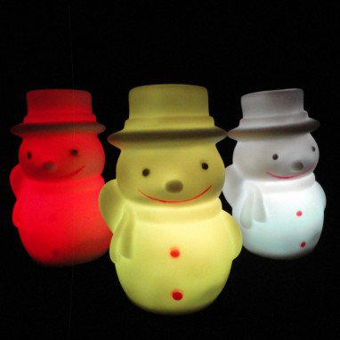 Christmas Ornaments Santa Claus Snowman Apple Night Light Colorful Night Light Multi Style Optional