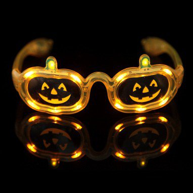 Makeup Christmas Decoration Led Flash Glasses Light Pumpkin Glasses Sunglasses Frame