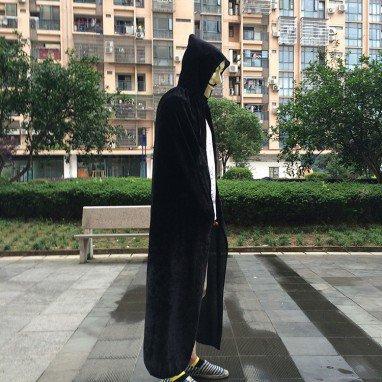 Halloween Cloak Pl Makeup Dress Witch Cloak Witch Wizard Gold Velvet Cloak Witch