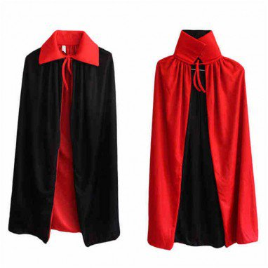 Halloween Costume Dress Black Red Double Vampire Cloak Death God Devil Devil Cloak