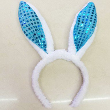 Sequin Rabbit Ears Glowing Puffs Rabbit Ears Hairband Christmas Bunny Glowing Headband Halloween