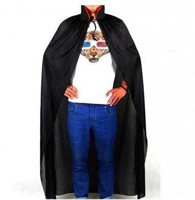 Halloween Death Cloak Cloak of The Devil Black with Cap Cloak