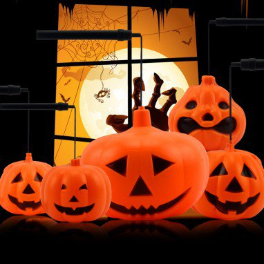 Halloween Halloween Ktv Ornaments Luminous Portable Pumpkin Lanterns Luminescence Pumpkin Lights