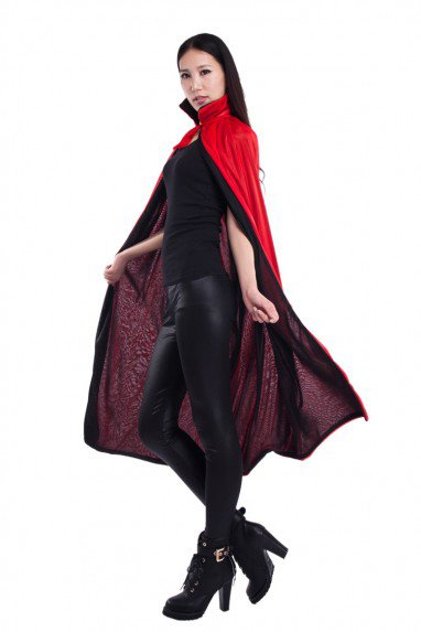 Halloween Costume Death Cloak Vampire Cloak Red Black Two-color Cloak Double Cloak