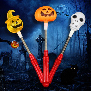 Halloween Flash Sticks Party Cheering Makeup Supplies Flash Toys Pumpkin Flash Sticks