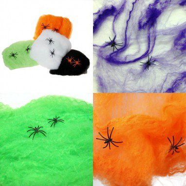 Halloween Ghost Festival Supplies Ghost House Fabrics Spider Web Spider Cotton Spin Spider Silk 5 Colors