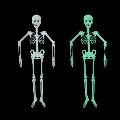 Luminous Skeleton Skeleton Halloween Activities Haunted House Decoration Supplies M Fluorescent Skeleton