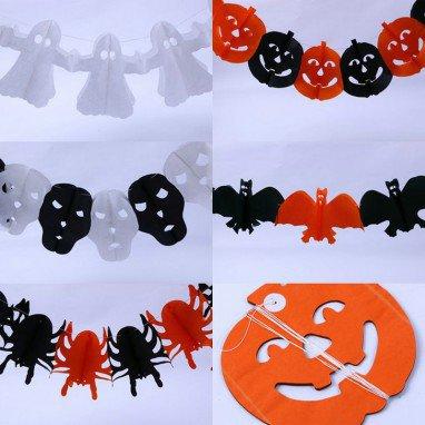 Halloween Scene Decoration Interior Decoration Floral Scorpion Spider Pumpkin Bats Ghost Pull Flowers