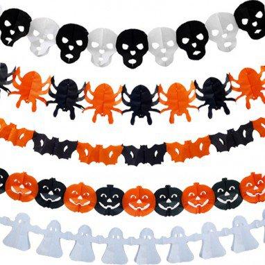 Halloween Venue Arrangement Halloween Paper Pull Flower Pumpkin Skeleton Ghost Spider Bat Flower Flower