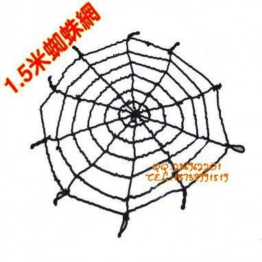 Halloween Ghost Ghost House Spider Web Melt Velvet Spider Web Black Plush Spider Web