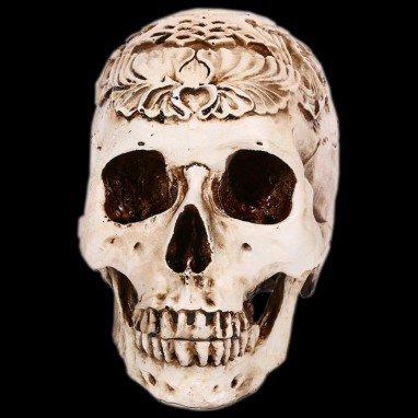 Halloween Halloween Scene Dressing Resin Real Human 1 Carved Skull Skull Skull Model Pendulum Batch